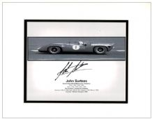 John Surtees Autograph Photo Signed - Formula 1